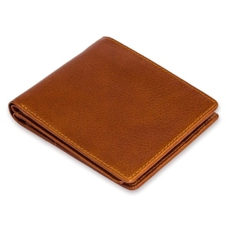 Leather Men's 'Seriously Brown' Wallet (Thailand)