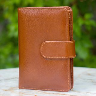 Leather 'Infinite Brown' Wallet and Phone Holder (Thailand)