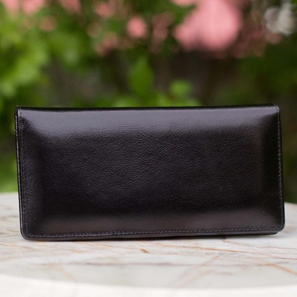 Handmade Leather 'Black Sophistication' Wallet (Thailand) 15413944