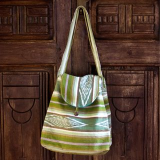 Handcrafted Cotton 'Maya Valley' Shoulder Bag (Guatemala)
