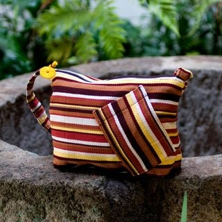 Handcrafted Cotton 'Colors of My Land' Shoulder Bag (Guatemala)
