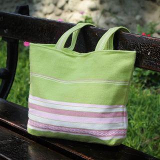 Alpaca 'Lime Strawberry' Tote Handbag (Peru)