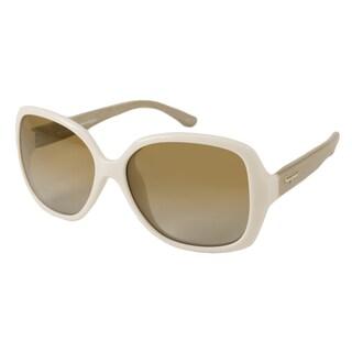 Ferragamo Women's SF715S Rectangular Sunglasses