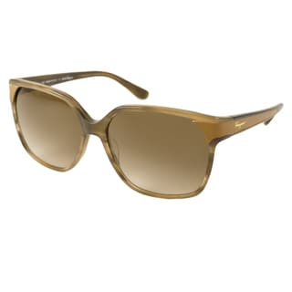 Ferragamo Women's SF622SL Rectangular Sunglasses