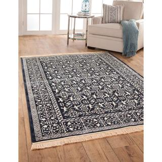 Charlton Navy Area Rug (5'3 x 7'6)