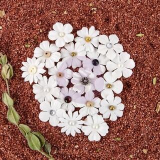 Pura Mulberry Paper FlowersAdelita, .875in 36/Pkg