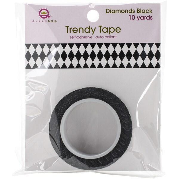 Queen & Co. Trendy TapeDiamonds Black