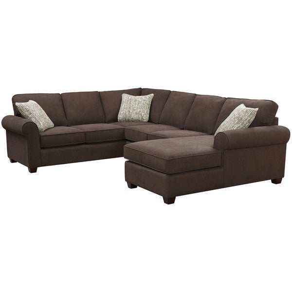 Art van laf sofa with corner armless overstock shopping for Sectional sofa art van