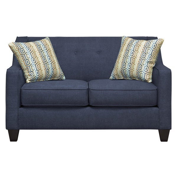 Art Van Axis Navy Loveseat