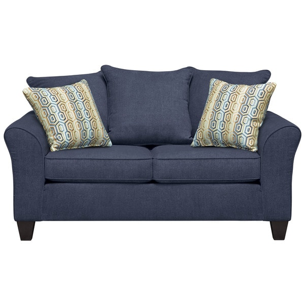 Art Van Olivia Navy Loveseat