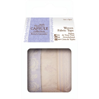 Papermania French Lavender Fabric Tape 1m 3/Pkg