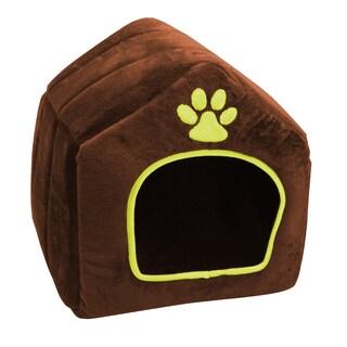Plush House-shaped Pet Bed