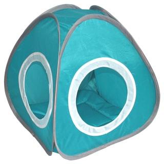 Blue Pyramid-shaped Cat Cozy Tent