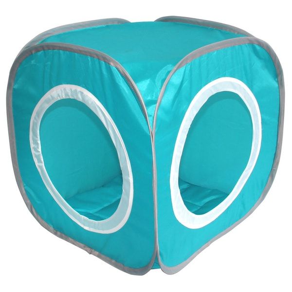 Blue Square Cat Cozy Tent