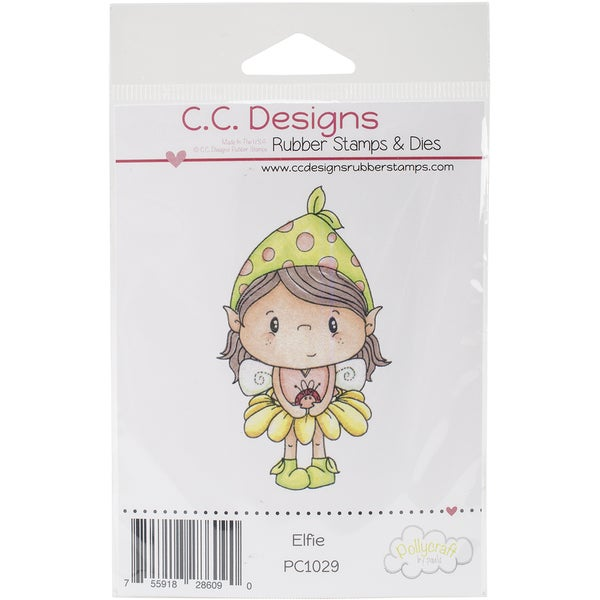 Pollycraft Cling Stamp 2inx3in Elfie