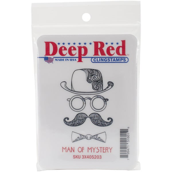 Deep Red Cling Stamp 1.5inX2inMan Of Mystery