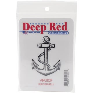 Deep Red Cling Stamp 1.5inX2inAnchor