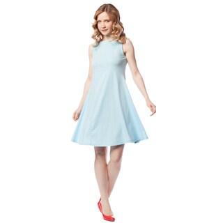 AtoZ Women's Classic Cotton Empire Dress
