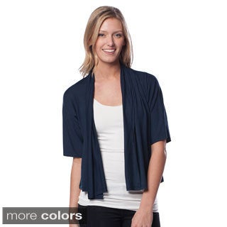 AtoZ Women's Cropped Open Cardigan