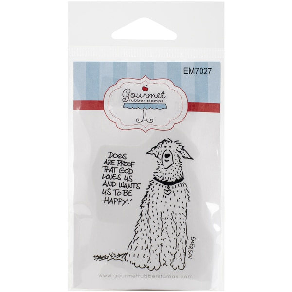 Gourmet Rubber Stamps Cling Stamps 2.75inX4.75inDogs Are Proof That God Loves Us
