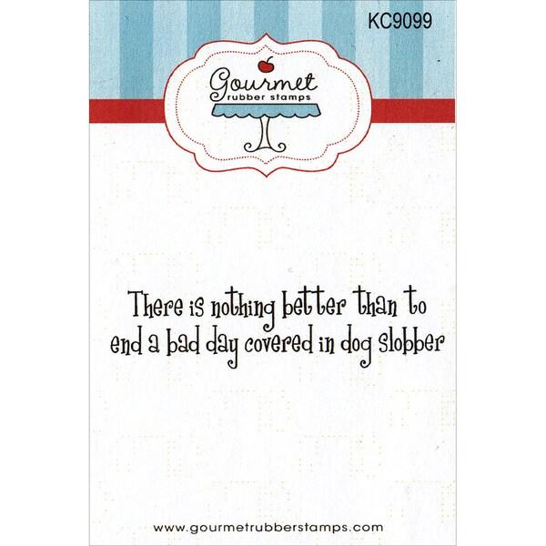 Gourmet Rubber Stamps Cling Stamps 2.75inX4.75inDog Slobber