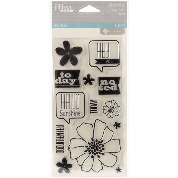 Saffron Yellow Pepper Soup Clear Stamps 4inX8in