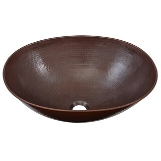 SINKOLOGY Maxwell 18-inch Above Counter Aged Copper Vessel Sink