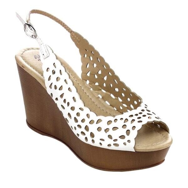 STYLUXE OVAL Women's Sling Back Platform Wedge Sandals