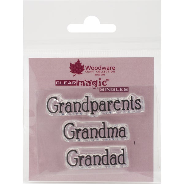 Woodware Clear Stamps 2.5inX1.75in SheetGrandparents