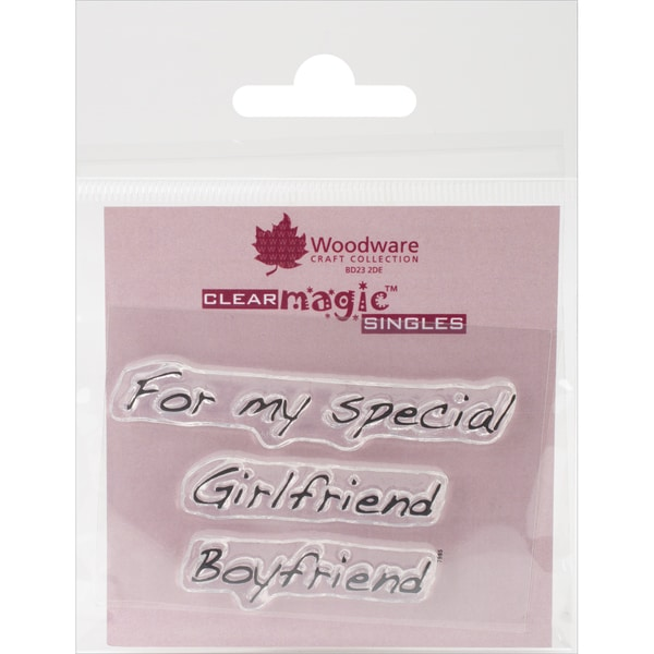 Woodware Clear Stamps 2.5inX1.75in SheetFor My Girlfriend/Boyfriend