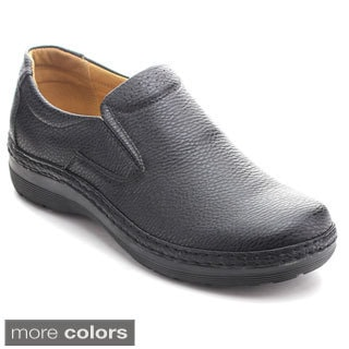 Alessio Men's M812 Leatherette Slip-on Loafers