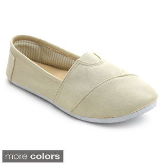 Forever Women's WT291 Round Toe Canvas Casual Flats