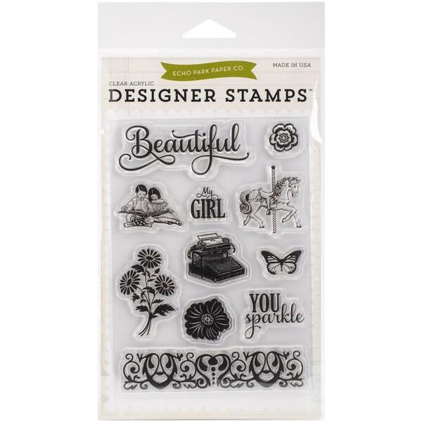 Echo Park Stamp 4inX6inBeautiful Girl