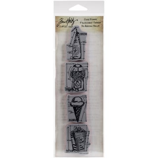 Tim Holtz Mini Blueprints Strip Cling Rubber Stamps 3inX10inTreats