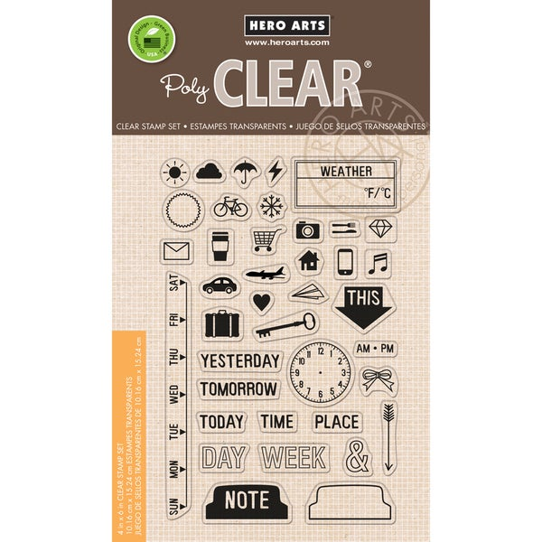 Hero Arts Clear Stamps 4inX6in SheetMy Week 15416764