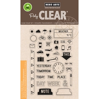 Hero Arts Clear Stamps 4inX6in SheetMy Week