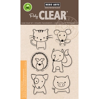 Hero Arts Clear Stamps 4inX6in SheetPlayful Animals