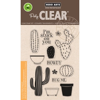 Hero Arts Clear Stamps 4inX6in SheetStamp Your Own Cactus