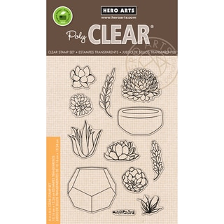 Hero Arts Clear Stamps 4inX6in SheetStamp Your Own Succulents