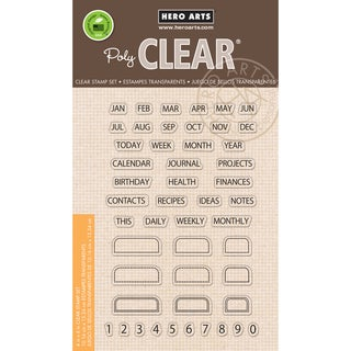 Hero Arts Clear Stamps 4inX6in SheetTabs