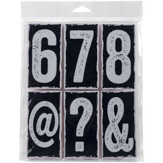 Tim Holtz Cling Rubber Stamp Set 7inX8.5inBig Number Blocks