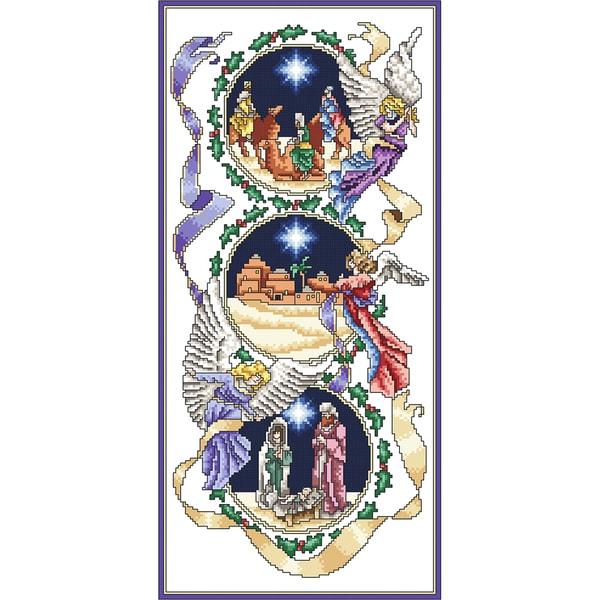 The Holy Birth Counted Cross Stitch Kit6.375inX13.625in 18 Count