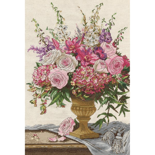 Symphony Bouquet Counted Cross Stitch Kit15inX22in 14 Count