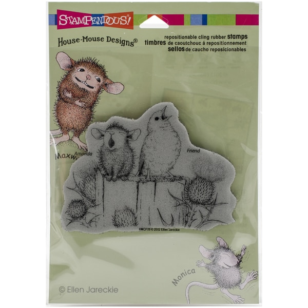 Stampendous House Mouse Cling Rubber Stamp 4.5inx5.5in SheetSing A Song