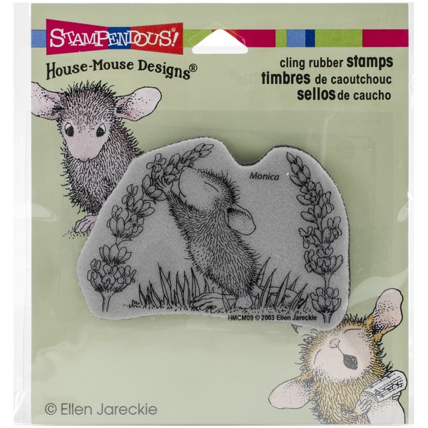 Stampendous House Mouse Cling Rubber Stamp 3.5inX4in SheetScent Of Lilac