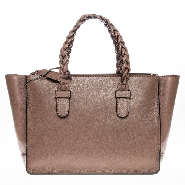 Valentino Braided Handle Leather Tote