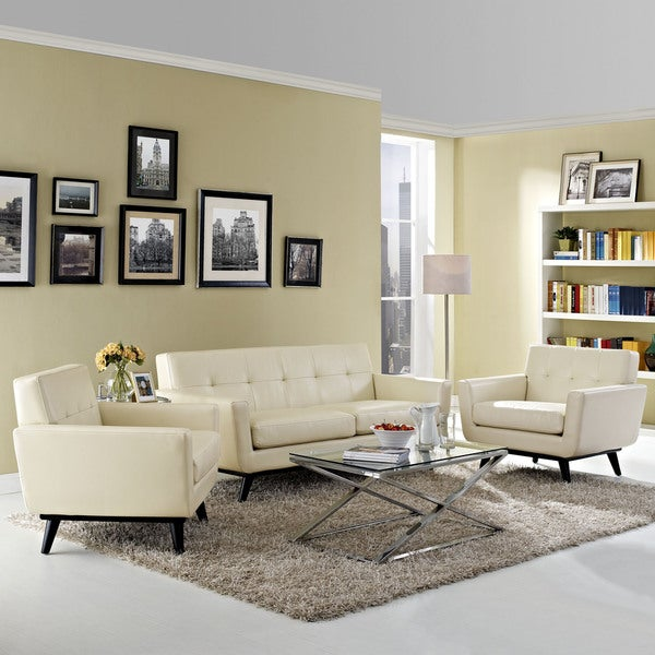 Absorb 3-piece Leather Living Room Set