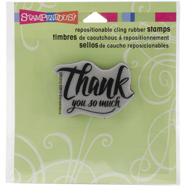 Stampendous Cling Rubber Stamp 3.5inX4in SheetPenned Thank You