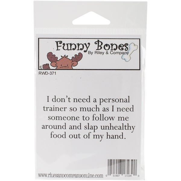 Riley & Company Funny Bones Cling Mounted Stamp 3inX1.25inPersonal Trainer