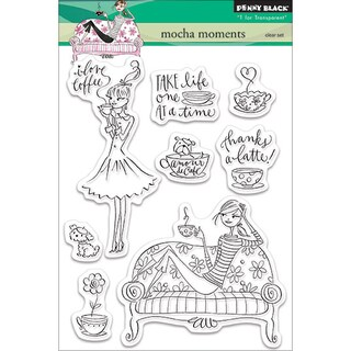 Penny Black Clear Stamps 5inX6.5in SheetMocha Moments